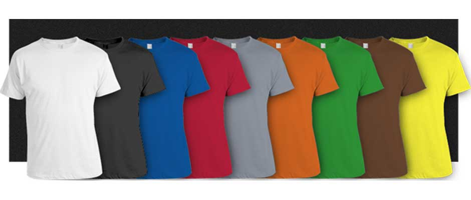 color t-shirts dyeing
